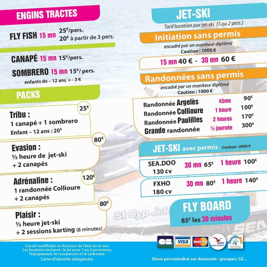 Tarifs Jet Ski St Cyp Jet Evasion 2018